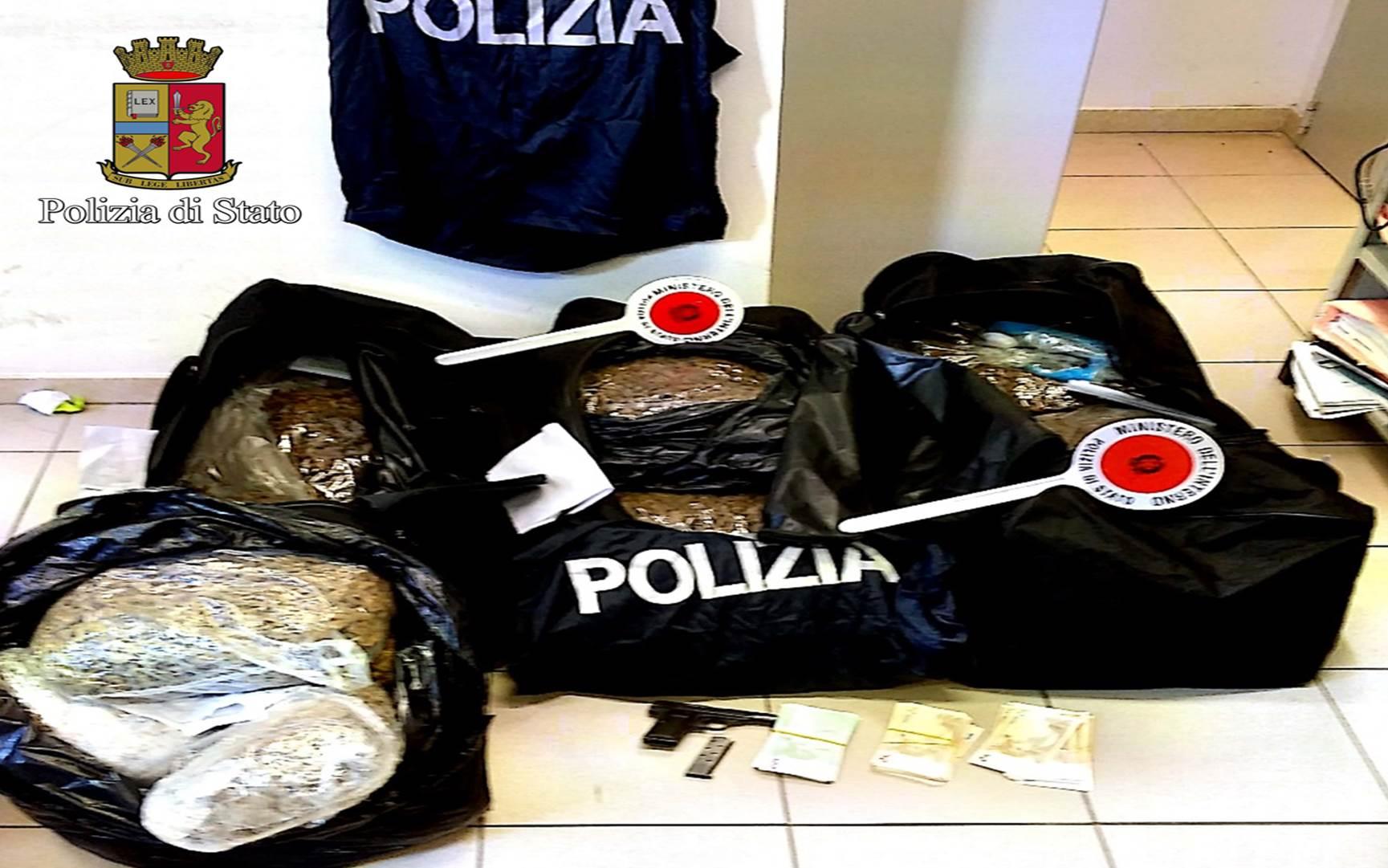 Milano la polizia di stato sequestra 51 chili di for Questura di roma ufficio immigrazione permesso di soggiorno
