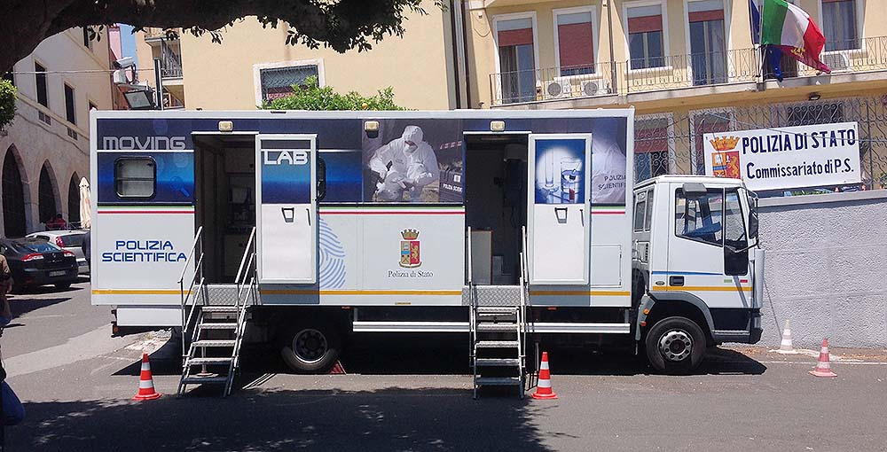 Moving Lab: la Polizia Scientifica ad Alassio