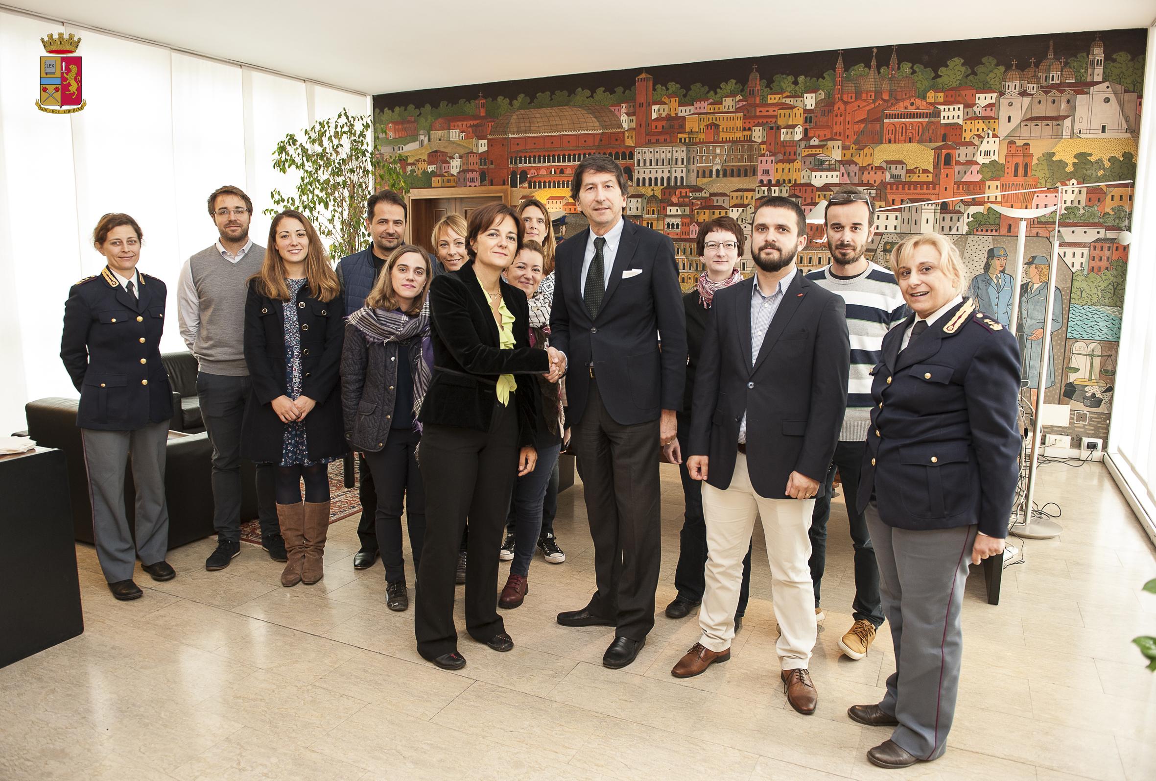 Delegazione di magistrati europei in visita alla Questura di Padova