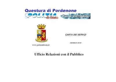 Polizia di stato questure sul web pordenone for Polizia di stato carta di soggiorno