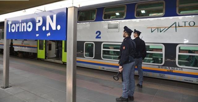 Torino: Controlli della Polizia di Stato a Porta Nuova