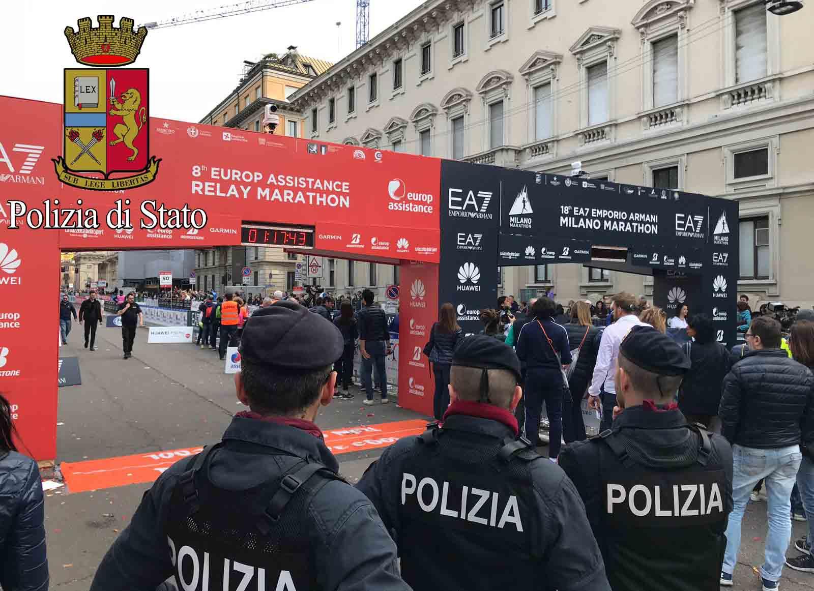 Polizia Di Stato Le Misure Di Vigilanza Disposte Dalla Questura Di Milano Per L Internazionale Milano City Marathon 2018