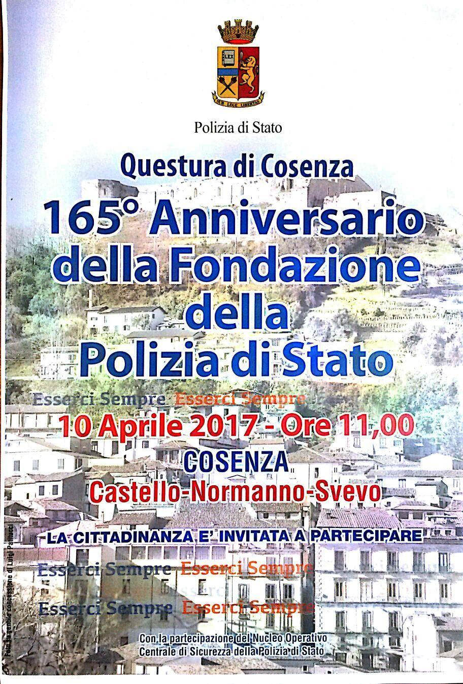 165 anniversario della fondazione della polizia di stato for Polizia di stato permesso di soggiorno questura di napoli
