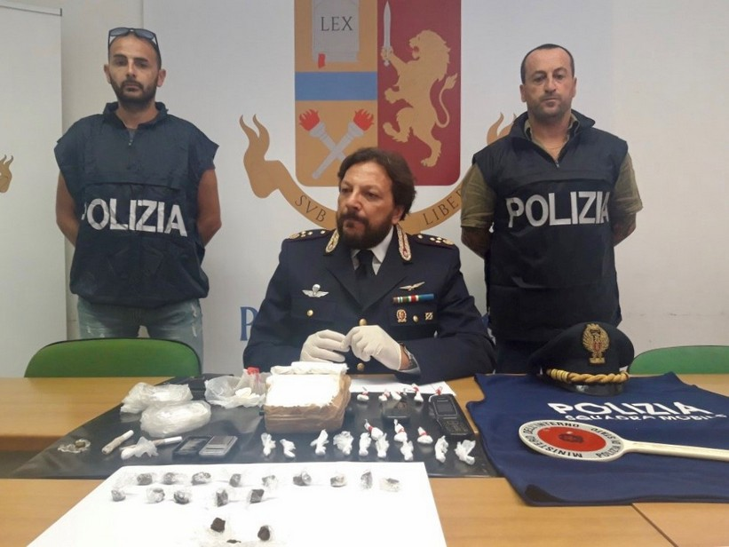 In conferenza stampa per arresto droga