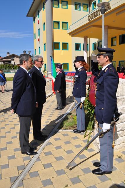 Cerimonia di festeggiamento del 164 anniversario della for Stato di polizia permesso di soggiorno