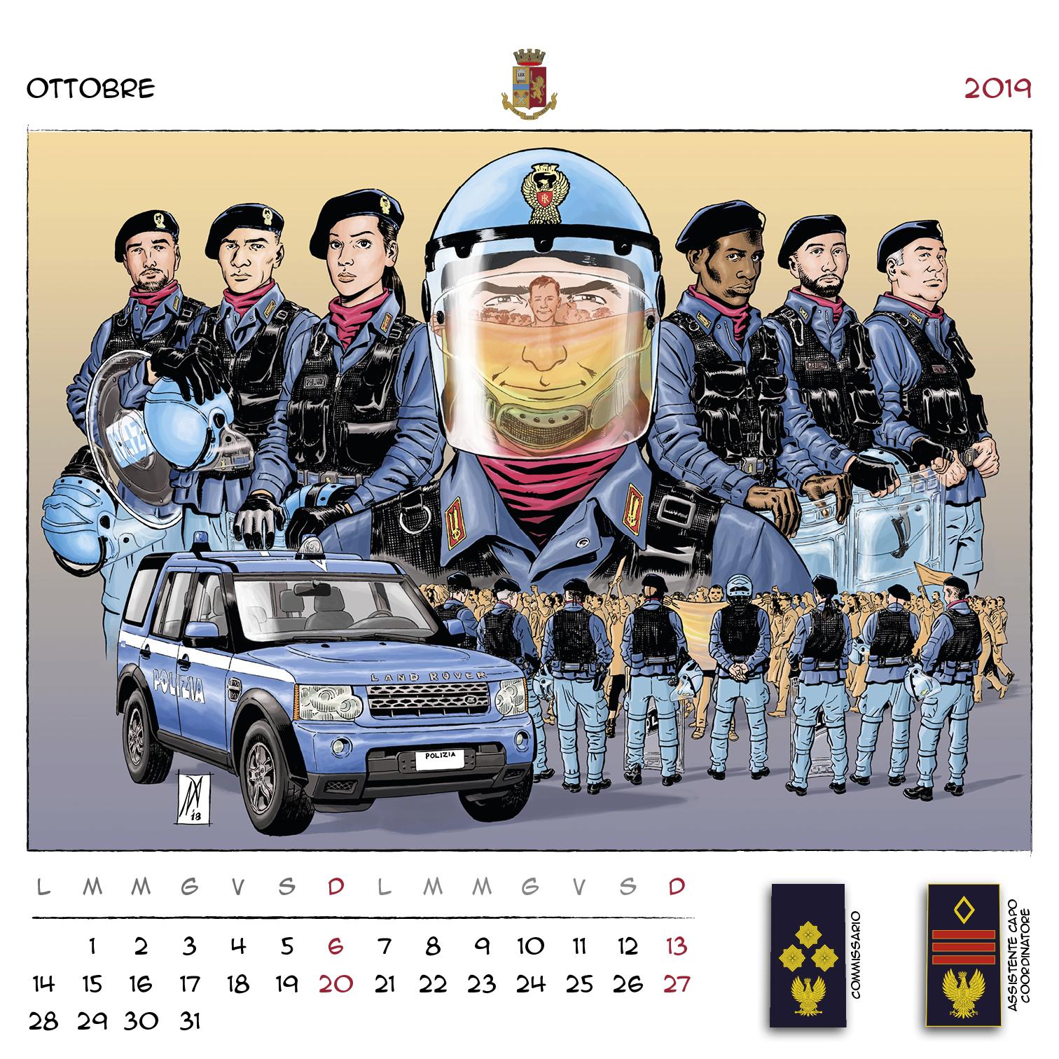 Calendario Concorso Polizia.Calendario Della Polizia Di Stato 2019