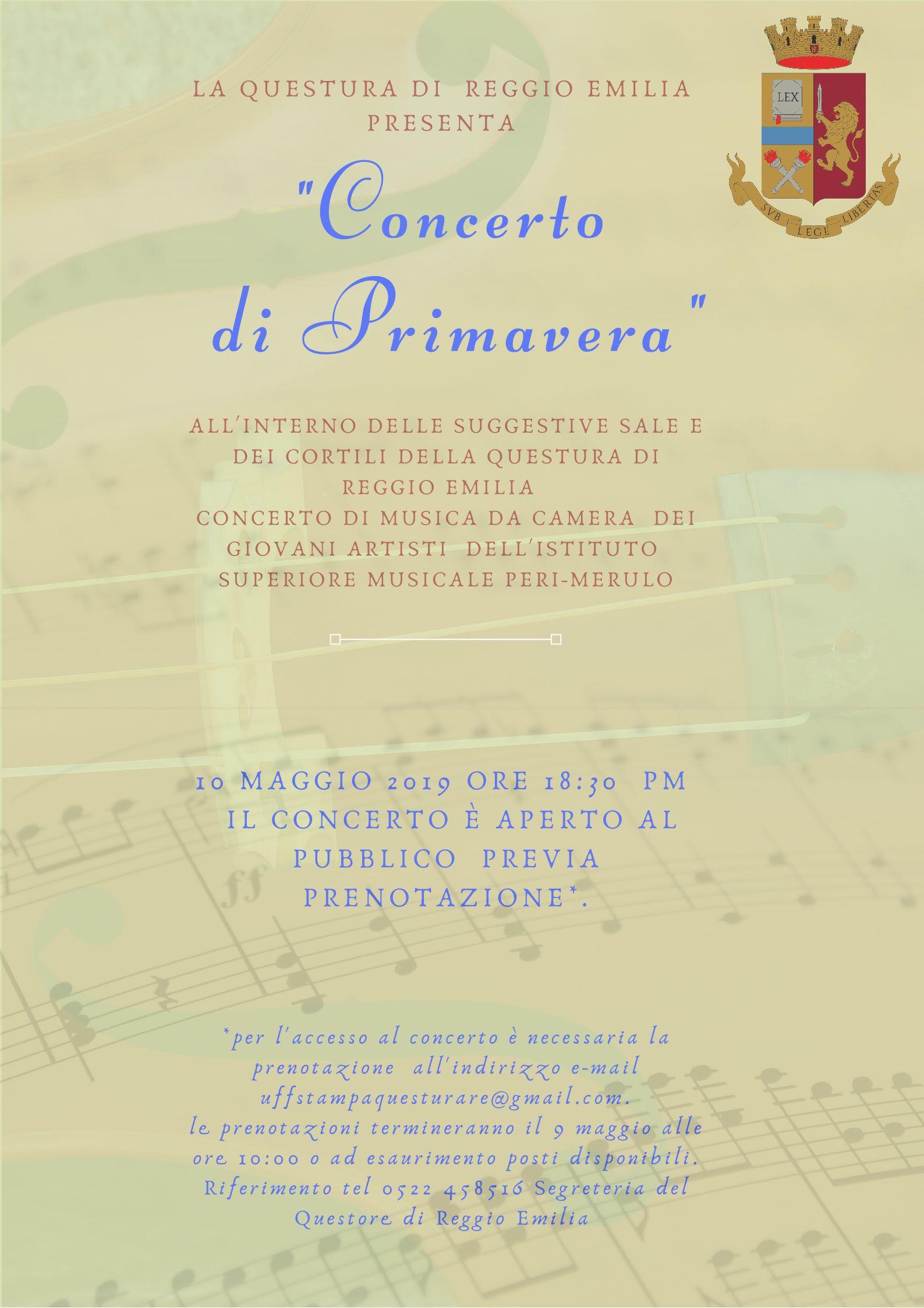 Concerto Di Primavera Questura Di Reggio Emilia 10 Maggio 2019